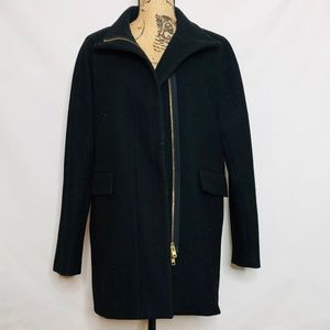 J. Crew women's black wool blend jacket size 8